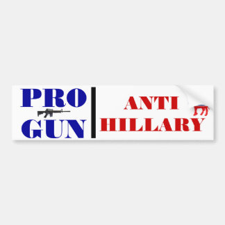Adesivo De Para-choque Pro arma, anti Obama, anti Hillary, anti Democrata