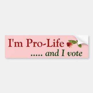 Adesivo De Para-choque Pro eleitor da vida