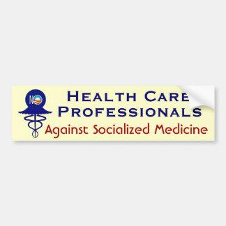 Adesivo De Para-choque Profissionais dos cuidados médicos políticos