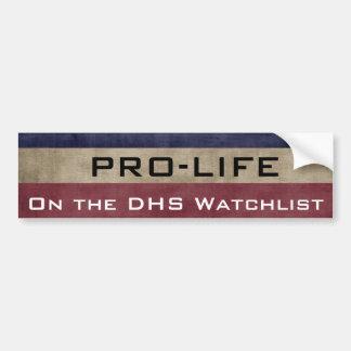 Adesivo De Para-choque ProLife e na lista