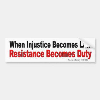 Adesivo De Para-choque Quando a injustiça se transforma resistência da