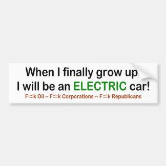 Adesivo De Para-choque Quando eu cresço acima eu serei um carro elétrico!
