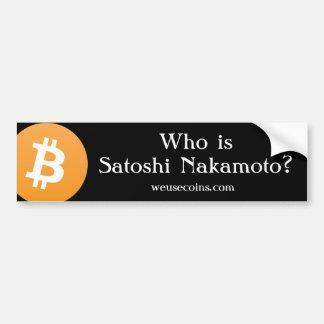 Adesivo De Para-choque Quem é Satoshi Nakamoto? Autocolante no vidro