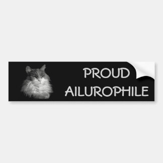 Adesivo De Para-choque Racum orgulhoso de Ailurophile (amante) do gato