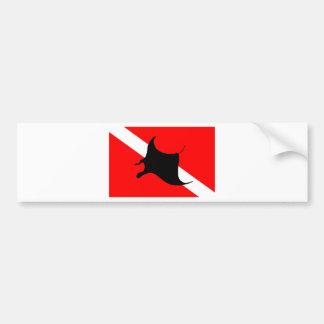 Adesivo De Para-choque Raio de Manta da bandeira do mergulho