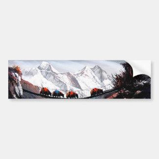 Adesivo De Para-choque Rebanho de iaques Himalaya da montanha