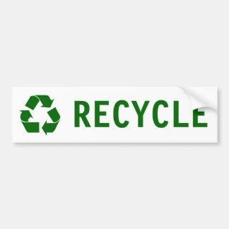 Adesivo De Para-choque reciclar