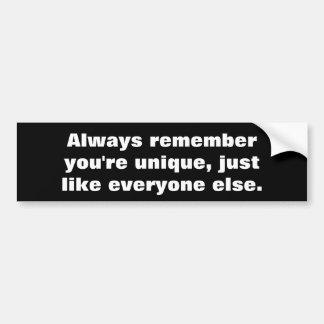 Adesivo De Para-choque Recorde sempre que você é original