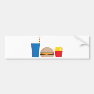 Adesivo De Para-choque refeição do fast food