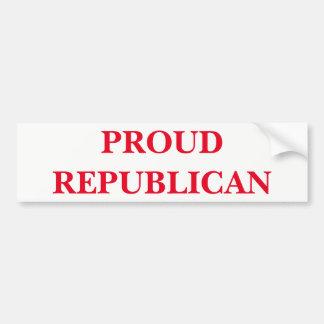 Adesivo De Para-choque Republicano orgulhoso