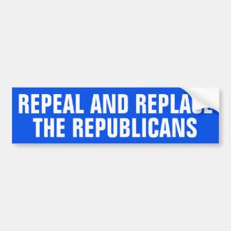 Adesivo De Para-choque Revogue e substitua os republicanos
