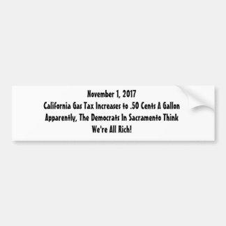Adesivo De Para-choque Revolta de impostos sobre o combustível
