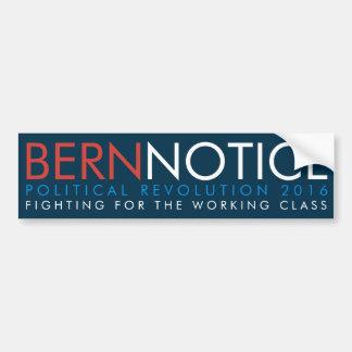 Adesivo De Para-choque Revolução política 2016 da observação de Berna