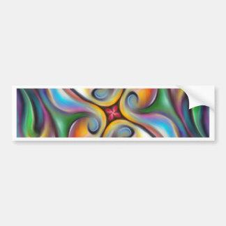 Adesivo De Para-choque Roda colorida transições macia misturadas da