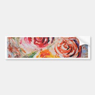 Adesivo De Para-choque Rosas abstratos