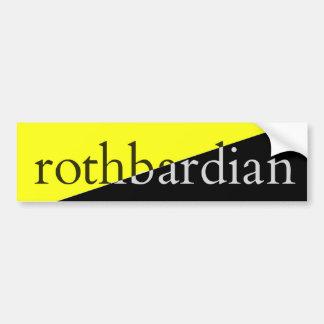 Adesivo De Para-choque Rothbardian