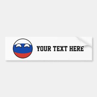 Adesivo De Para-choque Rússia Geeky de tensão engraçada Countryball
