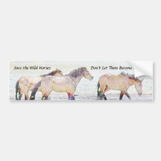 Adesivo De Para-choque Salvar o autocolante no vidro traseiro dos cavalos