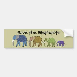 Adesivo De Para-choque Salvar os elefantes