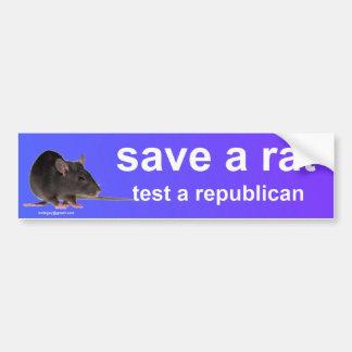 Adesivo De Para-choque salvar um rato