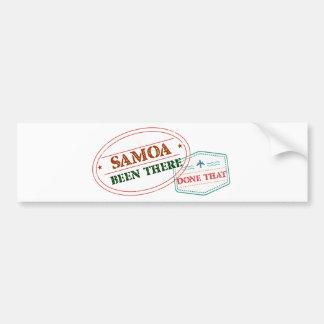 Adesivo De Para-choque Samoa feito lá isso