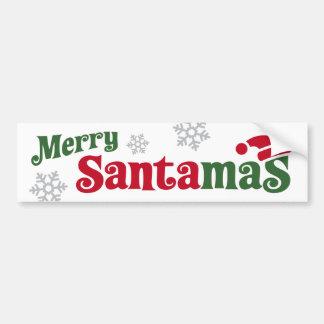 Adesivo De Para-choque Santamas alegre