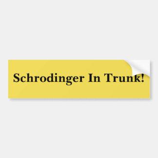 Adesivo De Para-choque Schrodinger no tronco!