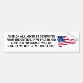 Adesivo De Para-choque Se América hesitar