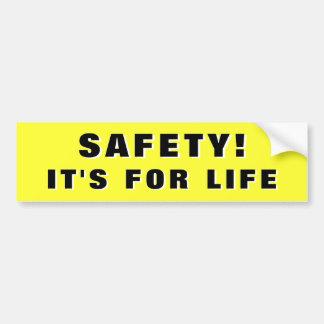 Adesivo De Para-choque Segurança! Realiza-se para a vida 3d