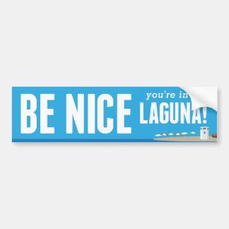 Adesivo De Para-choque Seja agradável você estão em Laguna - autocolante