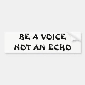 Adesivo De Para-choque Seja uma voz não um eco
