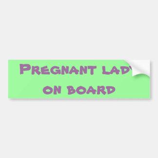 Adesivo De Para-choque Senhora grávida a bordo