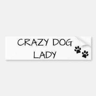 Adesivo De Para-choque Senhora louca do cão