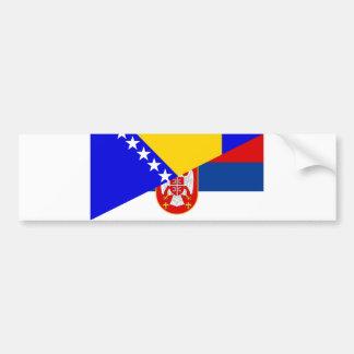 Adesivo De Para-choque serbia Bósnia - símbolo do país da bandeira de