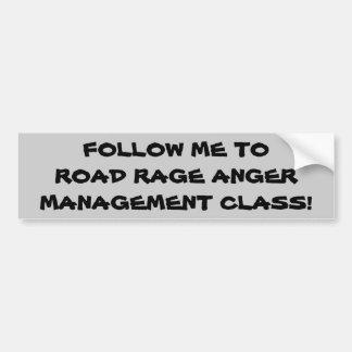 Adesivo De Para-choque Siga-me à classe da raiva da raiva da estrada