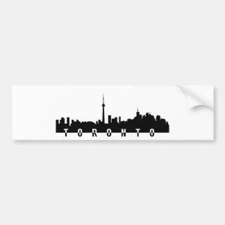 Adesivo De Para-choque silhoue do preto do símbolo da cidade de Canadá da