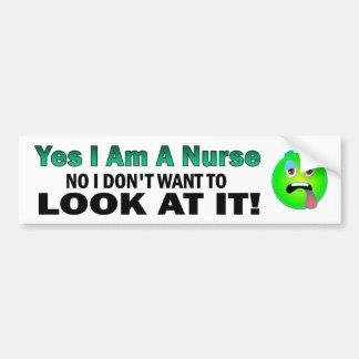 Adesivo De Para-choque Sim eu sou uma enfermeira nenhuma mim não quero