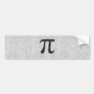 Adesivo De Para-choque Símbolo matemático do dia preto original do pi do