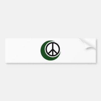 Adesivo De Para-choque Símbolo muçulmano islâmico com sinal de paz