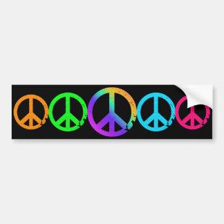 Adesivo De Para-choque Sinais de paz do arco-íris do KRW