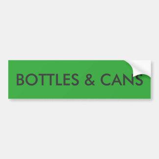Adesivo De Para-choque Sinal das garrafas & das latas