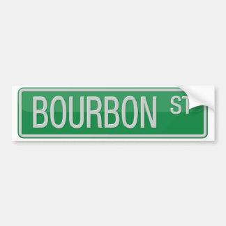 Adesivo De Para-choque Sinal de estrada da rua de Bourbon