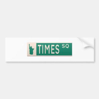 Adesivo De Para-choque Sinal de rua de New York - quadrado de épocas