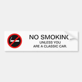Adesivo De Para-choque Sinal NÃO FUMADORES engraçado para o posto de