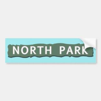 Adesivo De Para-choque Sinal norte do parque