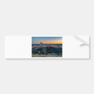Adesivo De Para-choque Skyline de Pittsburgh no por do sol