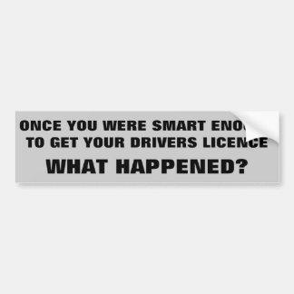 Adesivo De Para-choque Smart bastante para conduzir o que aconteceu?