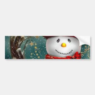 Adesivo De Para-choque Snowmans bonitos - ilustração do boneco de neve