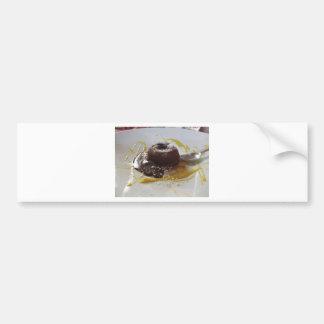 Adesivo De Para-choque Sobremesa morna do bolo da lava do fundente do
