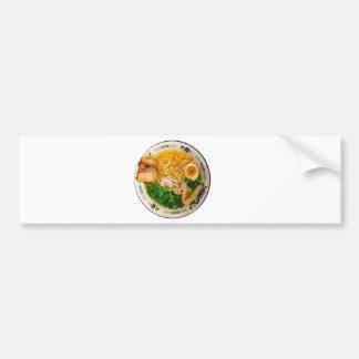 Adesivo De Para-choque Sopa de macarronete dos Ramen da carne de porco